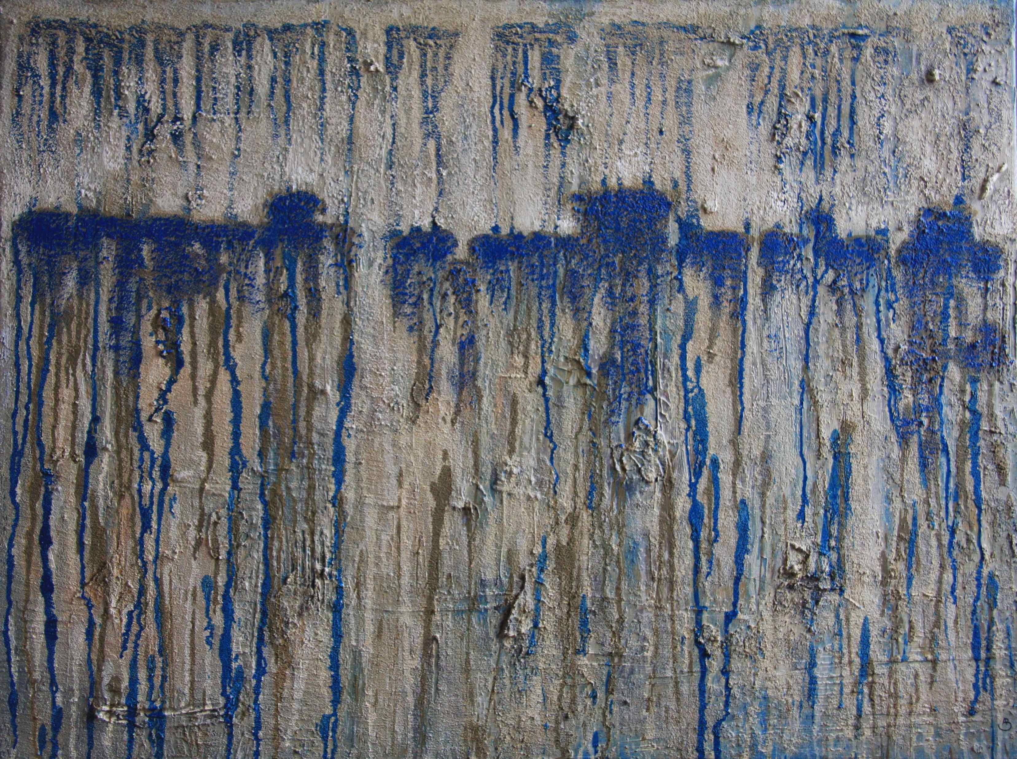 Blue Drops 60x80