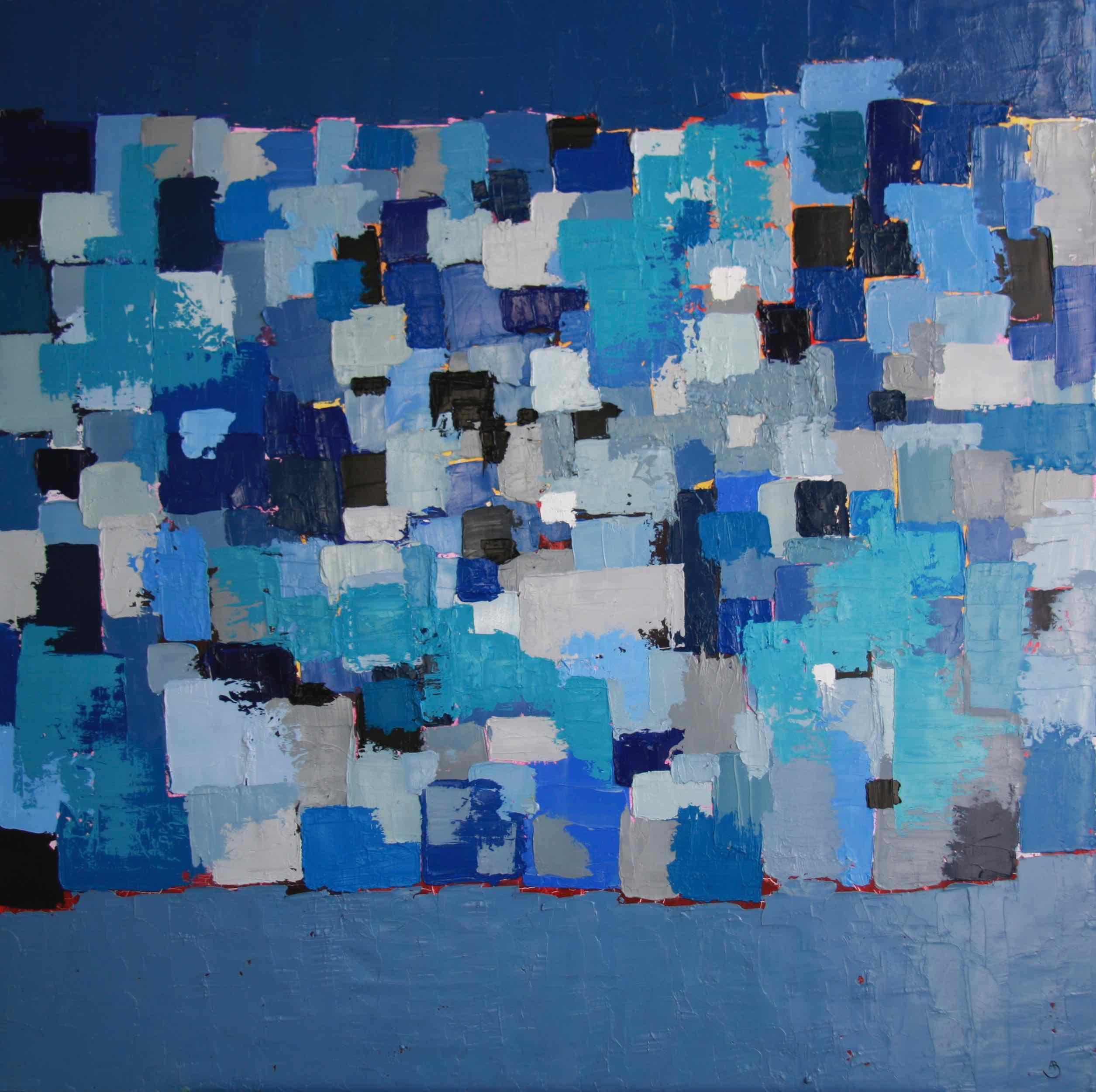 Blue Mosaic 80x80